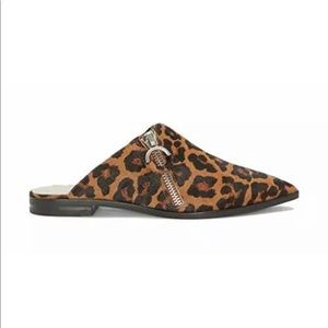 1. STATE Felid Leopard Calf Hair Mules NWB